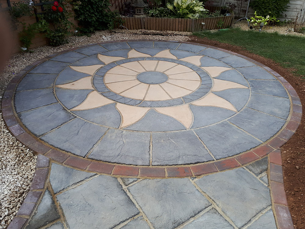 Aztec Circle - patio slabs